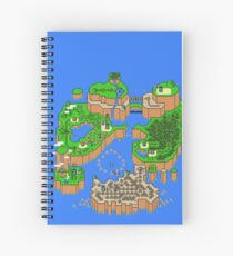 Super Mario World Map Spiral Notebook