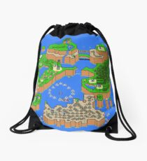 Super Mario World Map Drawstring Bag