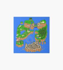 Super Mario World Map Art Board