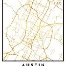 AUSTIN TEXAS CITY STREET MAP ART by deificusArt