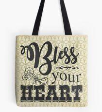 Bless Your Heart - Vintage Floral Tote Bag