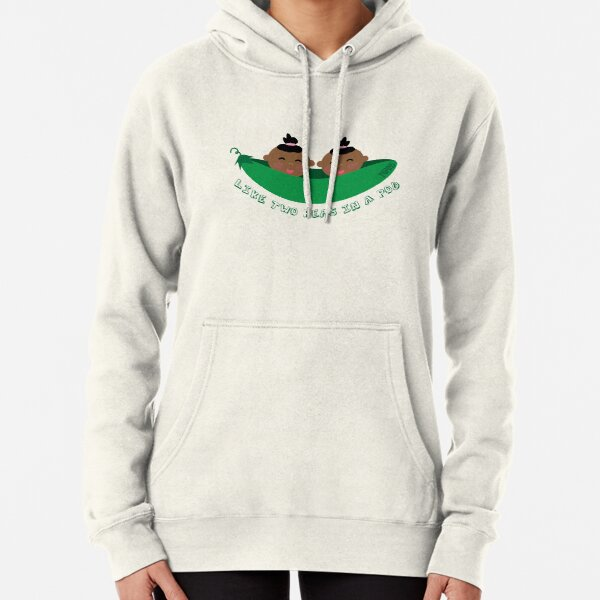 Peas in a Pod (girl/girl twins) Pullover Hoodie
