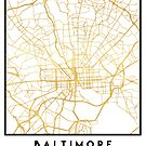 BALTIMORE MARYLAND CITY STREET MAP ART by deificusArt