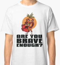 The Angry Carrot Brave Enough / Foodietoon Classic T-Shirt