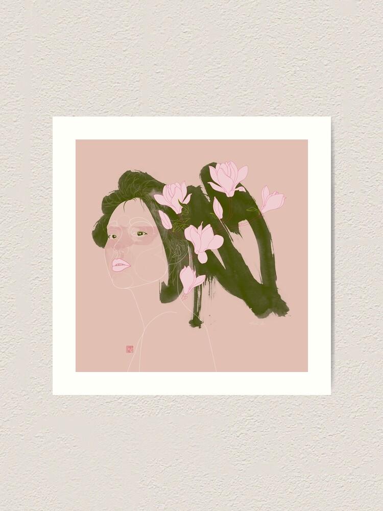 Alternate view of Magnolia (Mulan) Art Print