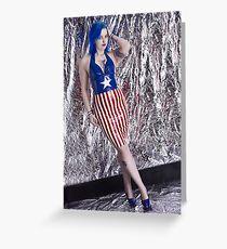 Captain America Latex Queen Greeting Card