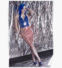 Captain America Latex Queen Poster