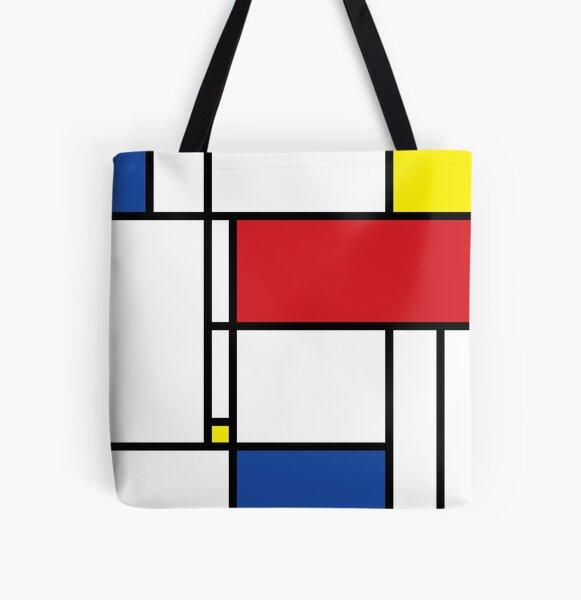 Mondrian Minimalist De Stijl Modern Art © fatfatin Tote bag doublé