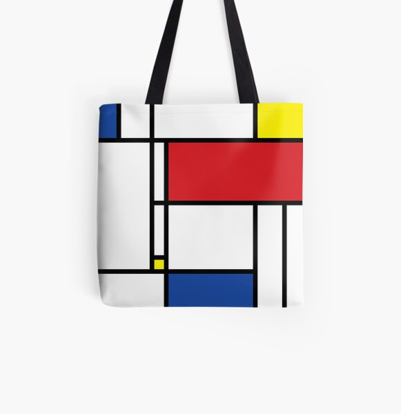 Mondrian Minimalist De Stijl Modern Art © fatfatin All Over Print Tote Bag