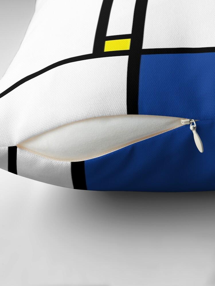 Alternative Ansicht von Mondrian Minimalist De Stijl Moderne Kunst © fatfatin Dekokissen