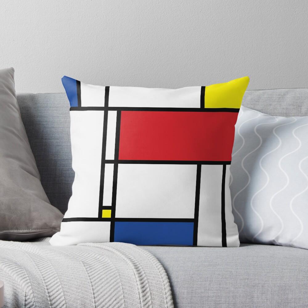 Mondrian Minimalist De Stijl Moderne Kunst © fatfatin Dekokissen