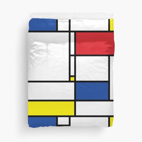 Mondrian Minimalist De Stijl Modern Art © fatfatin Duvet Cover