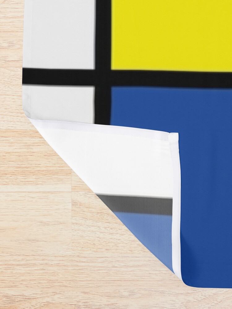 Alternate view of Mondrian Minimalist De Stijl Modern Art © fatfatin Shower Curtain