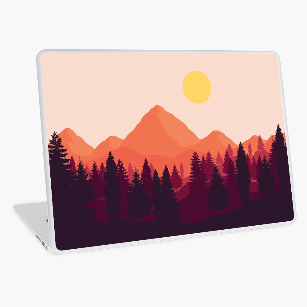 Forest Mountain Horizon Laptop Skin