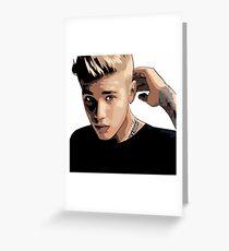 Justin Beiber Greeting Card