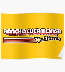 Rancho Cucamonga, CA | City Stripes Poster
