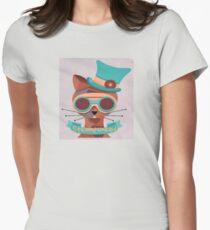 Cat googles, glasses, top hat, steampunk T-Shirt