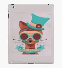 Cat googles, glasses, top hat, steampunk iPad Case/Skin