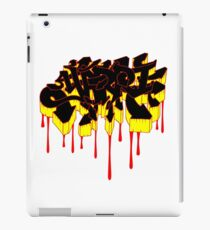 Yarri Graffiti - Aboriginal Flag Colours b iPad Case/Skin