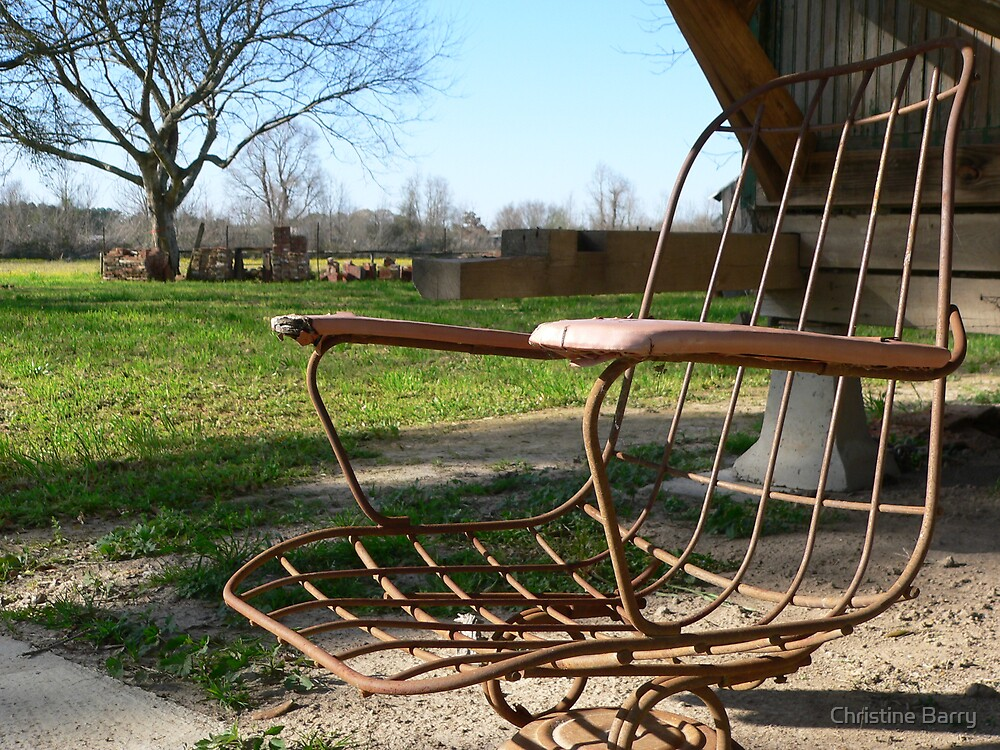 Iron Chair by Christine Barry