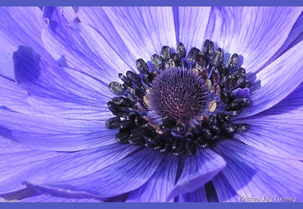 Flower Hearts - Blue/Purple by Kristen Joy Tunney