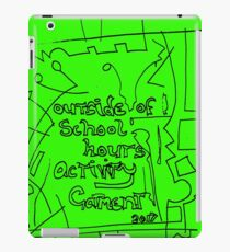 outside of school hours activity garment - green iPad Case/Skin