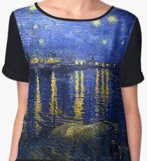 Starry Night Rhone Women's Chiffon Top