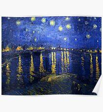 Starry Night Rhone Poster