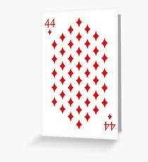 44 Diamonds Playing Card Greeting Card