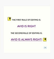 The first rule of editing... Art Print
