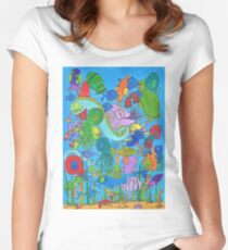 A Rather Crowded Ocean Women's Fitted Scoop T-Shirt