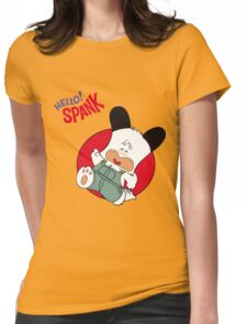 Hello Spank! Womens Fitted T-Shirt
