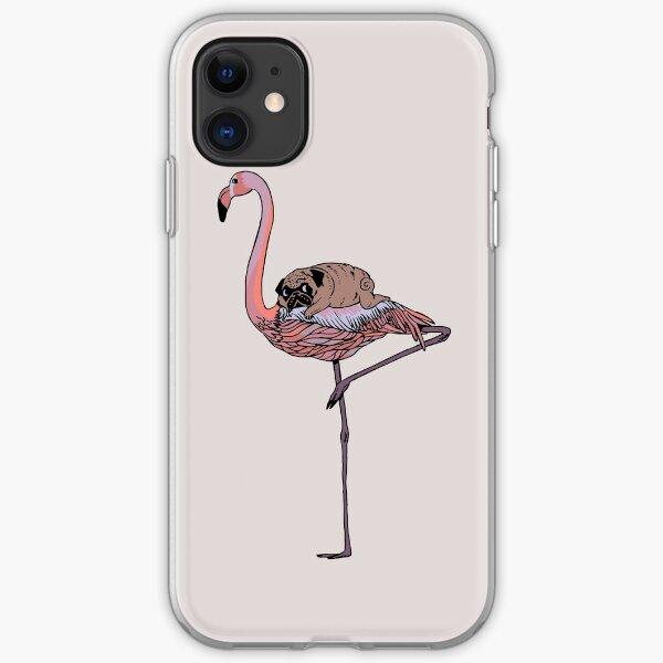Hot Pink Tropical Flamingo Bird Silhouette slide buckle low profile dad hat