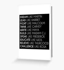 Dream Like Martin Greeting Card