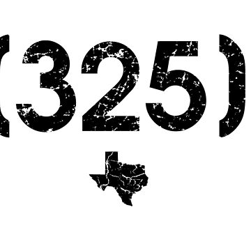 Area Code 325 Texas by BearSquared