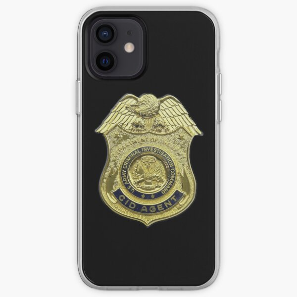 CID AGENT BADGE. AMERICAN. US, USA, Army, Criminal Investigation Command, Agent, Military Badge. iPhone Soft Case