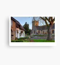 Bretforton, Worcestershire Canvas Print