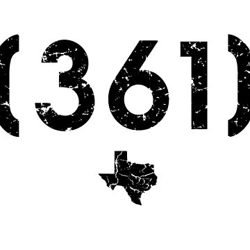Area Code 361 Texas by BearSquared