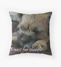 Border Terrier Gifts for Dog Lovers Paws for Thought Throw Pillow