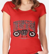 MOTORCYCLE t-shirt  Women's Fitted Scoop T-Shirt