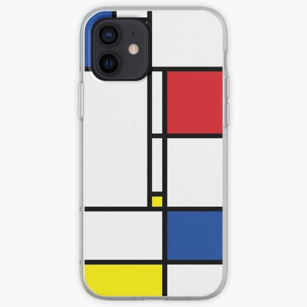 Mondrian Minimalist De Stijl Modern Art © fatfatin iPhone Soft Case