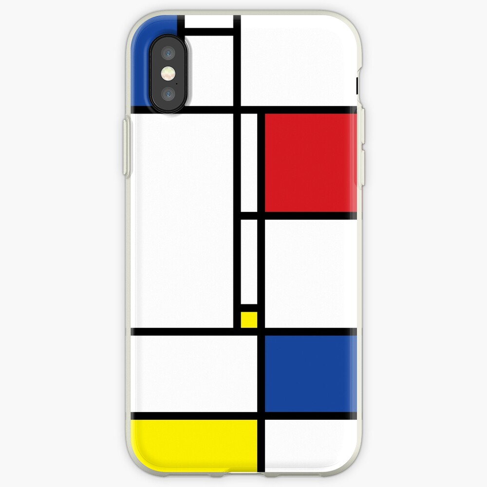 Mondrian Minimalist De Stijl Modern Art iPhone Cases & Covers