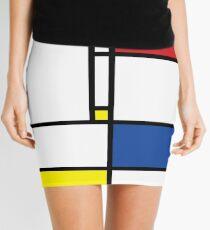 Mondrian Minimalist De Stijl Modern Art Mini Skirt