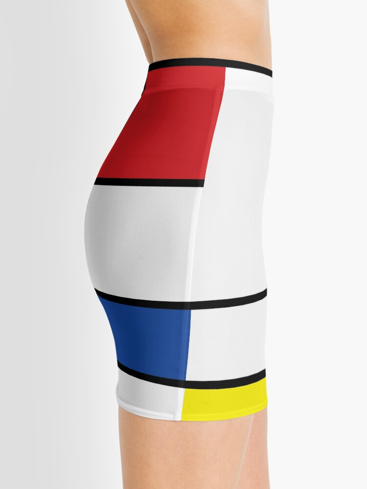 Alternate view of Mondrian Minimalist De Stijl Modern Art © fatfatin Mini Skirt