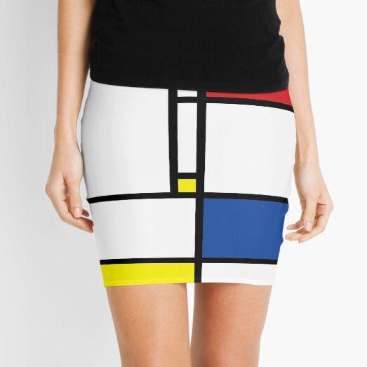 Mondrian Minimalist De Stijl Modern Art © fatfatin Mini Skirt