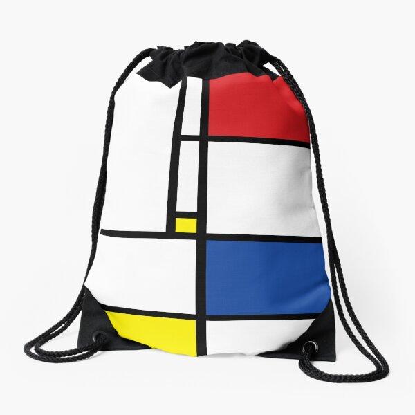 Mondrian Minimalist De Stijl Modern Art © fatfatin Drawstring Bag