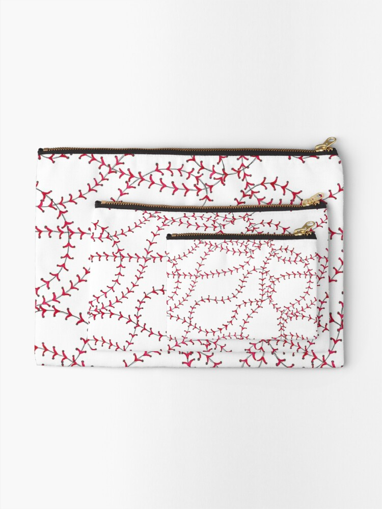 Alternate view of Baseball Zipper Pouch