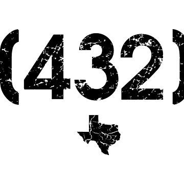 Area Code 432 Texas by BearSquared