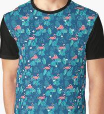 Tropical flamingos Graphic T-Shirt