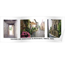 Montefalco Series #02 – Medieval Laneways of Montefalco Poster